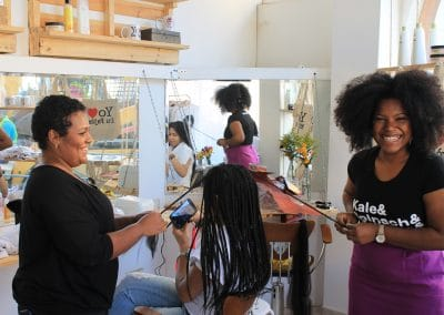 Miss Rizos Natural Hair Salon Sustainable INterior Design4