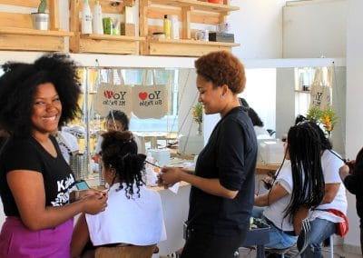 Miss Rizos Natural Hair Salon Sustainable INterior Design5