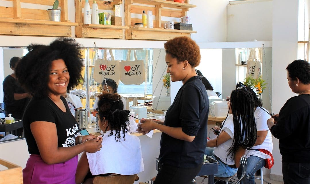 Miss Rizos Salon: Natural Hair & Sustainable Interior Design