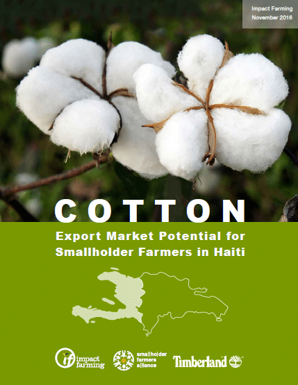 Haiti Cotton Study Officially Published