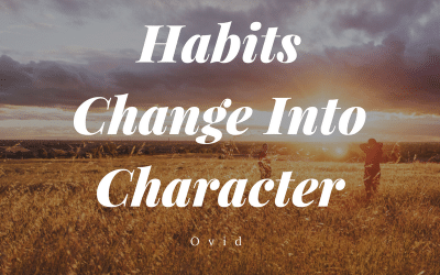 Why You Want to Cultivate Good Habits