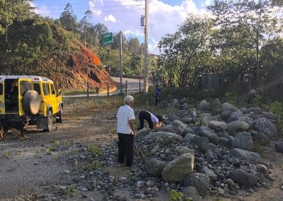 Picking up Rocks Permaculture edges natural resources permaculture principles mulching stones natural materials wood chips