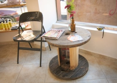 Miss Rizos Natural Salon Sustainable Interior Design The Growing Dutchman Dominican Republic Zona Colonial Reclaimed Wood and Sustainable Design