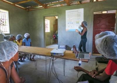Moringa Leaf powder processing smalholder farmers women cooperative afasdah the growing dutchman sustainable agriculture reforestation Haiti